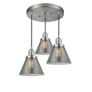 Large Cone - 3 Light Multi-Pendant