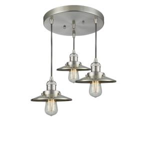 Three Light Railroad Pan Chandelier