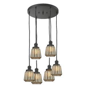 Chatham - Six Light Adjustable Cord Pan Chandelier