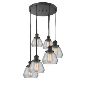 Fulton - Six Light Adjustable Cord Pan Chandelier