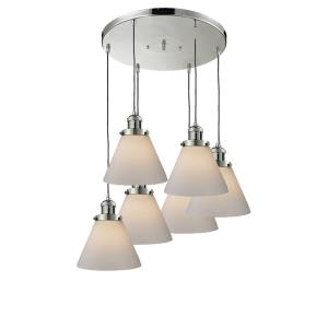 Six Light Large Cone Pan Chandelier