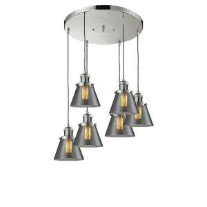 Six Light Small Cone Pan Chandelier