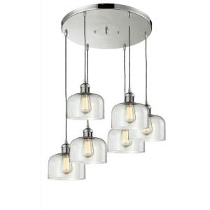Six Light Large Bell Pan Chandelier