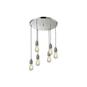 Addison - Six Light Adjustable Cord Pan Chandelier