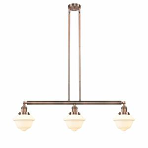 Small Oxford-10.5W 3 LED Island in Traditional Style-40 Inches Wide by 10 Inches High