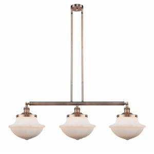 Large Oxford-3 Light Island in Traditional Style-42 Inches Wide by 12 Inches High