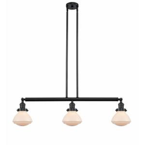 Olean-3 Light Island in Industrial Style-39.25 Inches Wide by 8.75 Inches High