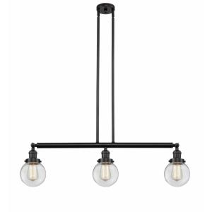 Beacon-3 Light Island in Industrial Style-38.5 Inches Wide by 10.88 Inches High