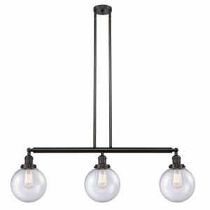 Large Beacon-3 Light Island in Industrial Style-40.5 Inches Wide by 12.88 Inches High