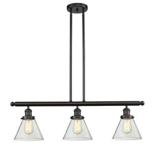 Large Cone-10.5W 3 LED Island in Industrial Style-40.25 Inches Wide by 10 Inches High