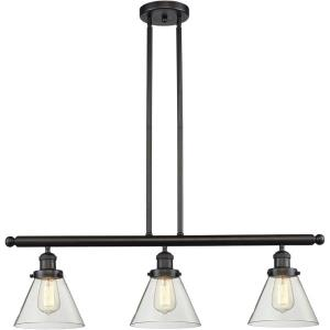 Large Cone - 40.25 Inch 3 Light Island