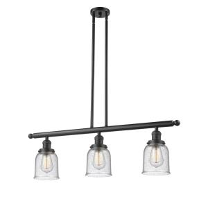 Small Bell-Three Light Adjustable Stem Island-36 Inches Wide by 10 Inches High