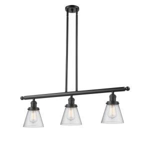 Small Bell - Three Light Adjustable Stem Island
