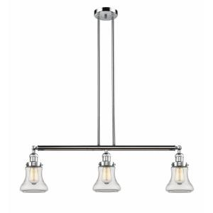 Bellmont-3 Light Island in Industrial Style-38.75 Inches Wide by 11 Inches High