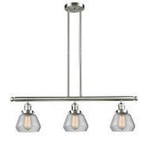 Fulton - Three Light Adjustable Stem Island