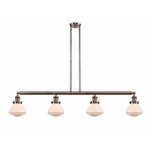 Olean-4 Light Island in Industrial Style-51.38 Inches Wide by 8.75 Inches High