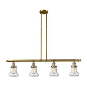 Bellmont-Four Light Adjustable Stem Island-48 Inches Wide by 11 Inches High