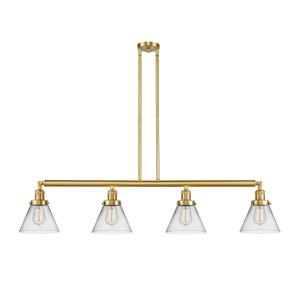 Large Cone-14W 4 LED Island in Industrial Style-52.38 Inches Wide by 10 Inches High