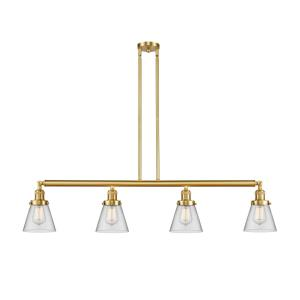 Small Cone-4 Light Island in Industrial Style-50.88 Inches Wide by 10 Inches High