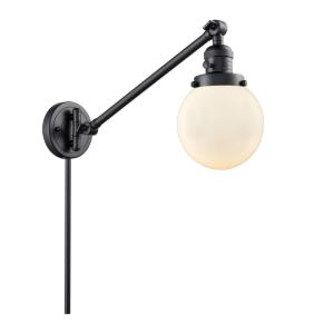 Beacon-1 Light Swing Arm Wall Mount in Industrial Style-6 Inches Wide by 25 Inches High