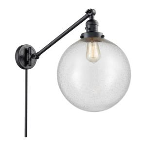 XX-Large Beacon-1 Light Swing Arm Wall Mount in Industrial Style-12 Inches Wide by 16 Inches High