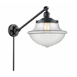 Large Oxford-1 Light Swing Arm Wall Mount in Traditional Style-12 Inches Wide by 13 Inches High