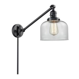 Large Bell-1 Light Swing Arm Wall Mount in Industrial Style-8 Inches Wide by 25 Inches High
