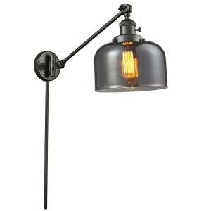 Large Cone - One Light Adjustable Swing Arm Portable Wall Sconce