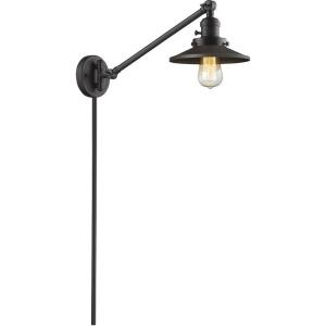 Railroad - One Light Adjustable Swing Arm Portable Wall Sconce