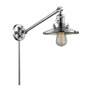 Railroad-1 Light Swing Arm Wall Mount in Traditional Style-8 Inches Wide by 25 Inches High