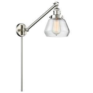 Fulton - One Light Adjustable Swing Arm Portable Wall Sconce