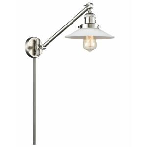 Halophane-1 Light Swing Arm Wall Mount in Industrial Style-8.5 Inches Wide by 25 Inches High