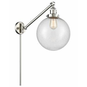 X-Large Beacon-1 Light Swing Arm Wall Mount in Industrial Style-10 Inches Wide by 14 Inches High