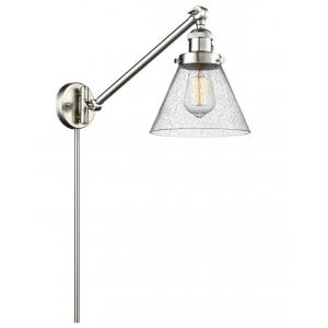 X-Large Cone-1 Light Swing Arm Wall Mount in Industrial Style-12 Inches Wide by 16 Inches High