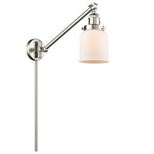 Small Bell - One Light Adjustable Swing Arm Portable Wall Sconce