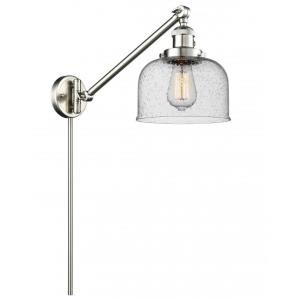 X-Large Bell-1 Light Swing Arm Wall Mount in Industrial Style-12 Inches Wide by 13 Inches High