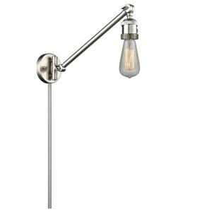 Bare Bulb-1 Light Swing Arm Wall Mount in Traditional Style-5 Inches Wide by 25 Inches High