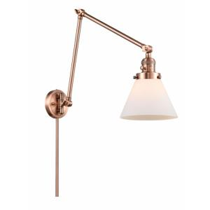 Large Cone - 30 Inch 1 Light Swing Arm Wall Mount