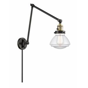Olean-1 Light Swing Arm Wall Mount in Industrial Style-8.75 Inches Wide by 27.75 Inches High