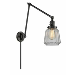 Chatham-1 Light Swing Arm Wall Mount in Art Deco Style-8 Inches Wide by 30 Inches High