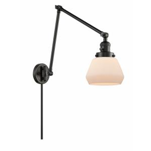 Fulton-1 Light Swing Arm Wall Mount in Industrial Style-8 Inches Wide by 30 Inches High