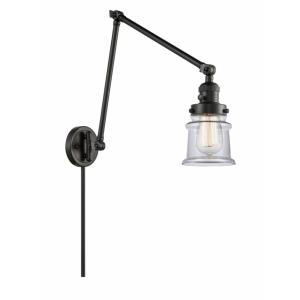 Small Canton-1 Light Swing Arm Wall Mount in Industrial Style-8 Inches Wide by 30 Inches High
