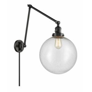 XX-Large Beacon-1 Light Swing Arm Wall Mount in Industrial Style-12 Inches Wide by 34 Inches High