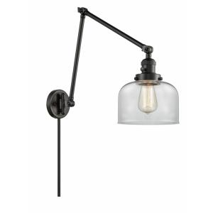 Large Bell-1 Light Swing Arm Wall Mount in Industrial Style-8 Inches Wide by 30 Inches High