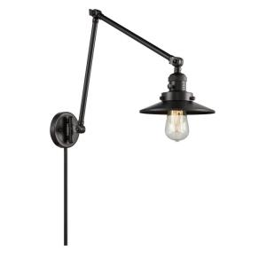 Railroad-1 Light Swing Arm Wall Mount in Traditional Style-8 Inches Wide by 30 Inches High