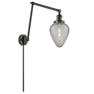 Geneseo - One Light Adjustable Double Swing Arm Portable Wall Sconce