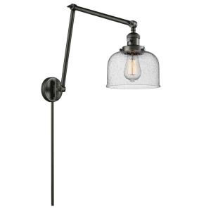 Large Cone - One Light Adjustable Double Swing Arm Portable Wall Sconce