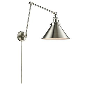 Briarcliff - One Light Adjustable Double Swing Arm Portable Wall Sconce