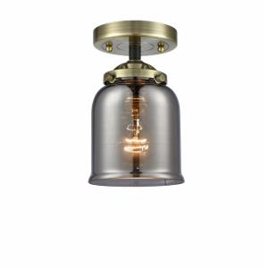 Small Bell - 8.13 Inch 1 Light Semi-Flush Mount