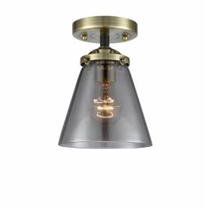 Small Cone - 8.13 Inch 1 Light Semi-Flush Mount